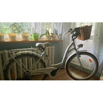 Rower miejski 26 cali damski Biały