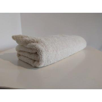 Nowy ręcznik biały/ kremowy 70x140 cm DUŻY