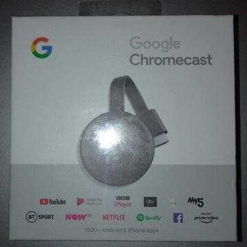 Nowy Google Chromecast 3 Smart TV HD NC2-6A5 HDMI