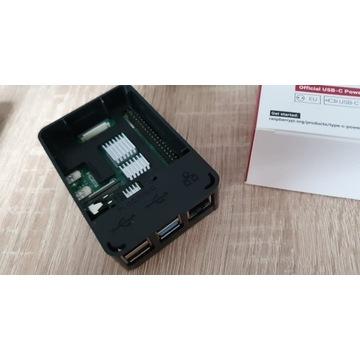 RaspberryPi 4 4GB, zasilacz,obudowa,pasywane,HDMI
