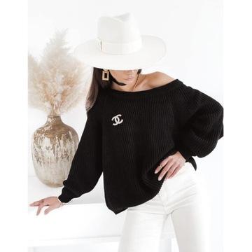 Sweter Sempre czarny roz. Uni