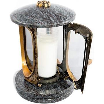 Lampion Nagrobny złoto + jasny orion+ rozeta