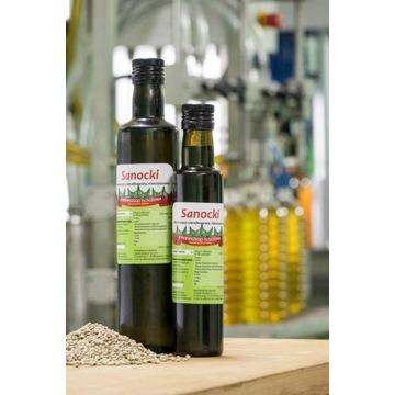 Olej konopny 0,5l tłoczony na zimno Oleje Sanockie