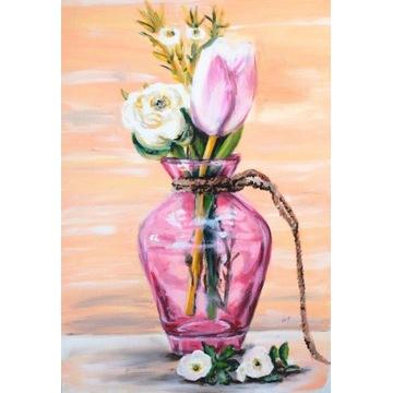 50x70 obraz ręcznie malowany martwa natura