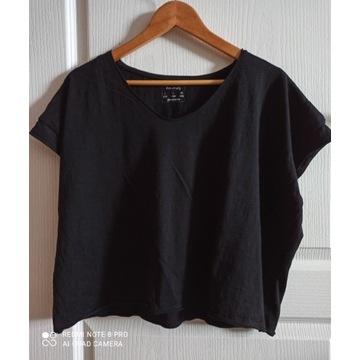 Czarny T-Shirt oversize Stradivarius