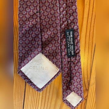 Krawat Celiné bordowy ornament