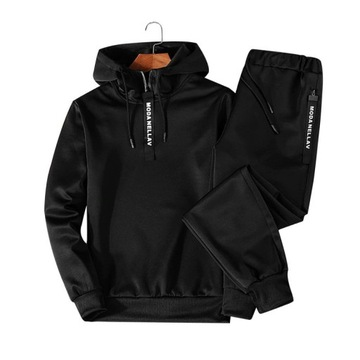 Stylowy dres jesienno-zimowy, bluza z kapturem