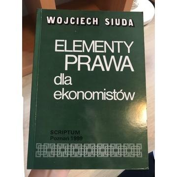 Element prawa dla ekonomistów Wojciech Siuda