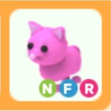 Roblox Adopt Me Pink Cat NFR neon