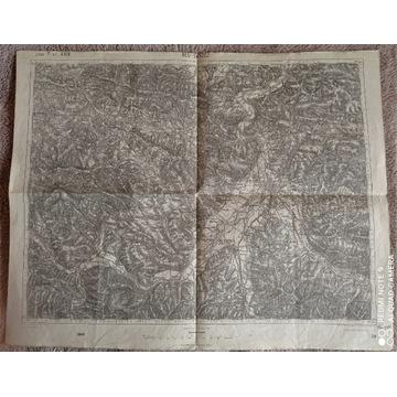 Mapa z 1914 r : Nowy i Stary Sącz (1: 75000)