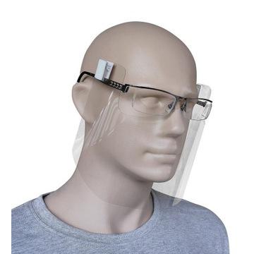 Pół przyłbica do okularów  ochronna maska mini