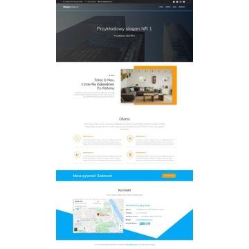 STRONA INTERNETOWA ONE-PAGE - Hosting+domena+SSL