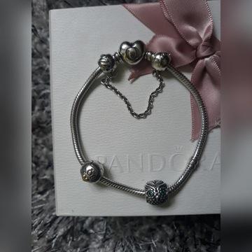 Bransoletka Pandora oryginał zestaw piękny polecam