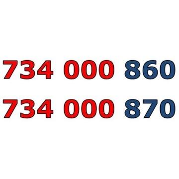 734 000 860 + 734 000 870 ZŁOTY NUMER STARTER PARA