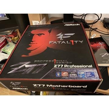 Płyta główna Asrock Z77 Prof + I7 3770K + 16 GB