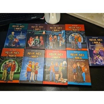 Felix, Net i Nika 9 książek z serii, stan jak nowy