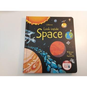 Look inside Space - Usborne  - ponad 70 okienek