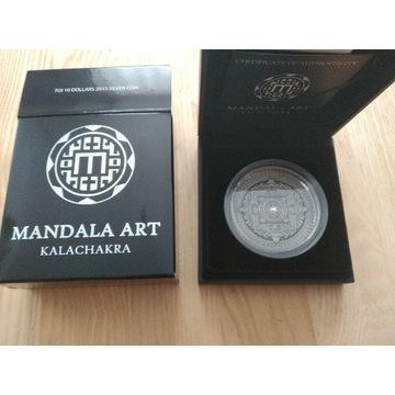 Fiji 2015 Mandala Art KALACHAKRA 3oz Ag