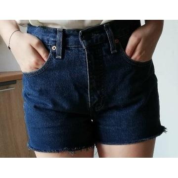 szorty jeansowe bawełniane Levi's vintage