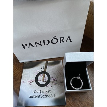 Srebrna zawieszka wisiorek Pandora O mała oryginał