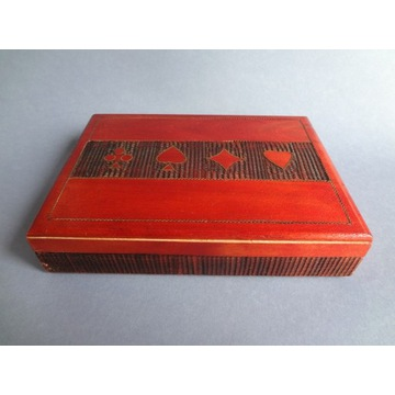 Pudełko na Karty Karciarka PRL 2 talie 1975 UNIKAT