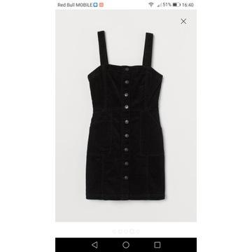 Sukienka na szelkach H&M r.38