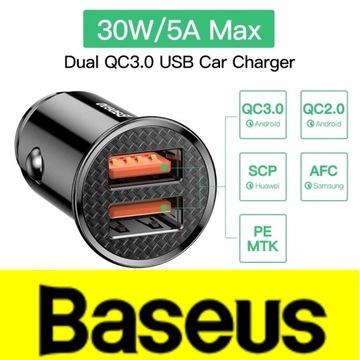Baseus ładowarka samochodowa QC 3.0 30W 2xUSB
