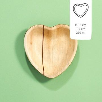 Naczynia z liści palmy 16cm Heartz, 25szt.
