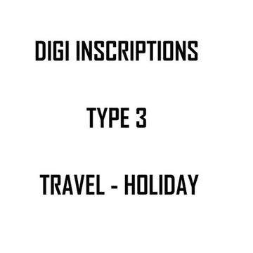Digi napisy po angielsku - TYPE 3 - TRAVEL HOLIDAY