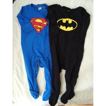 Piżama pajacyk H&M hm 86 2szt superman batman