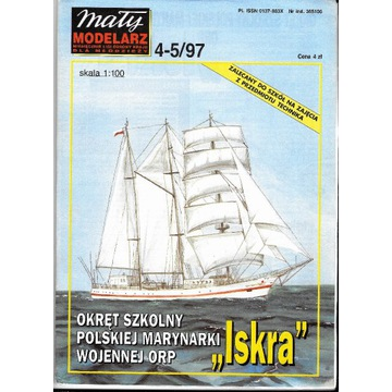 Mały modelarz 4-5 1997 okręt ISKRA model 1:100