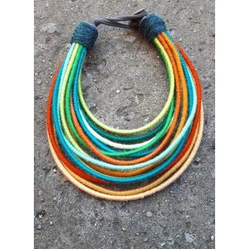 Naszyjnik masajka etno boho handmade etniczna kia