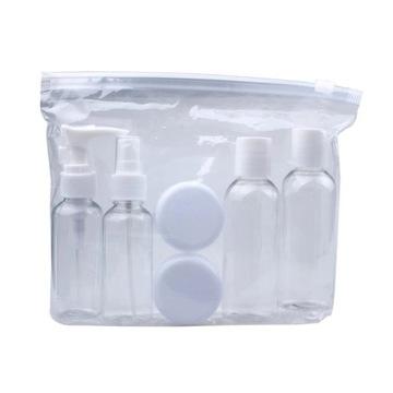 Zestaw pojemników podróżnych 6 szt. + kosmetyczka