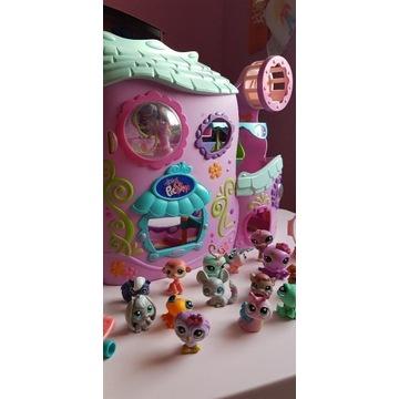 Little Pet Shop - duży domek zwierzaczki i dodatki