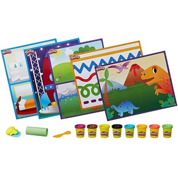 Play-Doh Zestaw Kreatywny 8 tub + GRATIS 10 tub