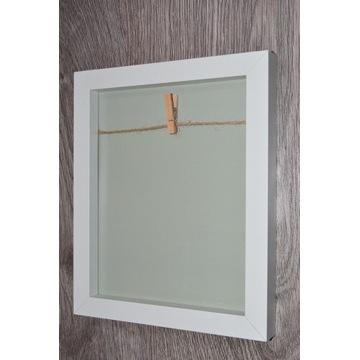 Ramka na zdjęcie ze sznurkiem i spinaczem drewno