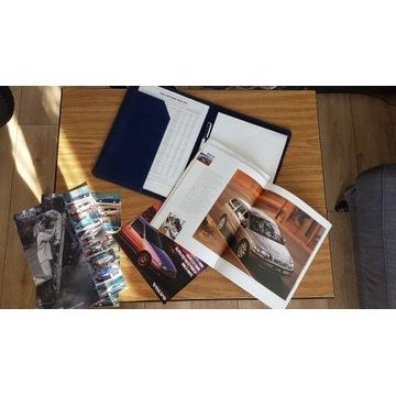 Teczka skórzana katalogi prospekty Volvo 2001r
