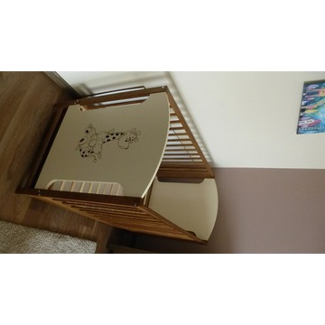 Łóżeczko dziecięce drewniane z szufladą 120x60