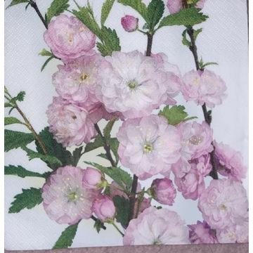 Serwetka decoupage 2 szt Retro, romantyzm, róże