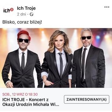 Bilety na jubileuszowy koncert Ich Troje