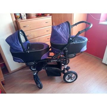 Wózek bliźniaczy 3w1 twinni