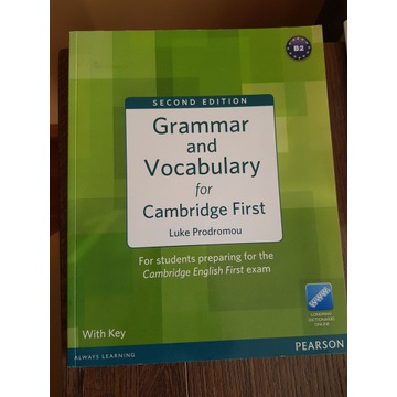 GRAMMAR AND VOCABULARY FOR CAMBRIDGE FIRST + KEY