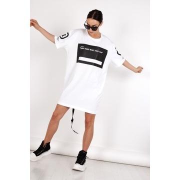 Sukienka bawełniana biała Be Back od Pause Jeans M