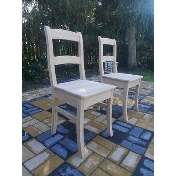 Krzesła czereśnia drewniane,pomaluj je z rodziną