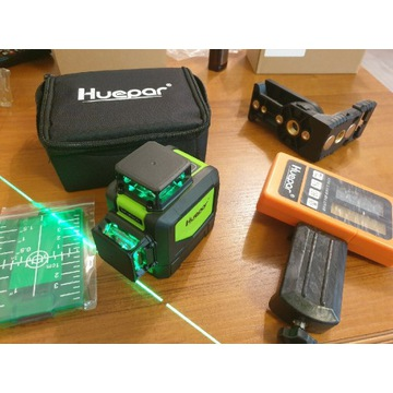 Poziomica laserowa, Niwelator huepar+ detektor 50m