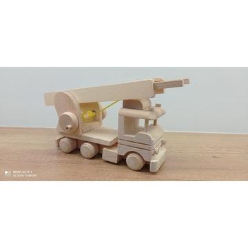Wóz strażacki z drewna rozsuwana drabina