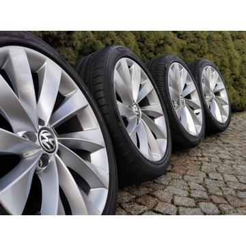"""OEM Koła 18"""" VW INTERLAGOS Letnie 5x112 OPONY LATO"""