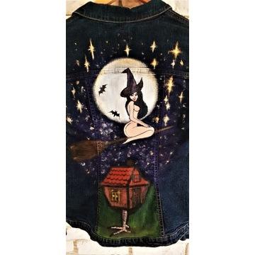 Czarownica, wiedźma, magia, kurtka hand made