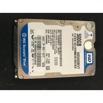 Dysk WD blue 500GB 2,5