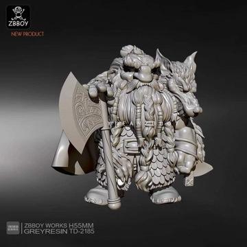 figurka LOTR, Warhammer Krasnolud 55 mm